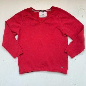 Zara boys red sweater v-neck size 6